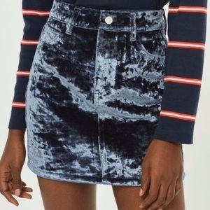 Top Shop Velvet Skirt